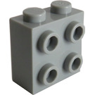 LEGO Medium Stone Gray Brick 1 x 2 x 1.66 with Studs on One Side (22885)