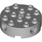 LEGO Medium Stone Gray Brick 4 x 4 Round with Holes (6222)