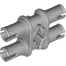 LEGO Medium Stone Gray Double Pin with Perpendicular Axlehole (32138)