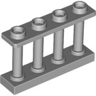 LEGO Medium Stone Gray Fence Spindled 1 x 4 x 2 with 4 Top Studs (15332)