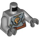 LEGO Medium Stone Gray Knight Torso with Lion (76382 / 88585)