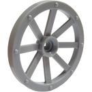 LEGO Medium Stone Gray Large Wagon Wheel (34mm) with Notched Hole (4489)