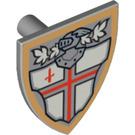 LEGO Medium Stone Gray Minifig Shield Triangular with Decoration (90228)