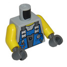 LEGO Medium Stone Gray Minifig Torso with Blue Vest with Tools (76382)