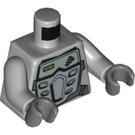 LEGO Medium Stone Gray Minifig Torso with Silver Armor (76382 / 88585)
