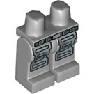 LEGO Medium Stone Gray Minifigure Hips and Legs with Belt and Silver Armor (89295)