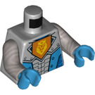 LEGO Nexo Knights Royal Soldier Torso with Yellow Lion and Crown with Flat Silver Arms and Dark Azure Hands (76382)