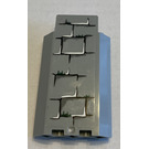 LEGO Medium Stone Gray Panel Wall 3 x 3 x 6 Corner with Mossy Bricks Sticker without Bottom Indentations