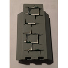 LEGO Medium Stone Gray Panel Wall 3 x 3 x 6 Corner with Sticker from Set 4738 without Bottom Indentations