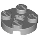 LEGO Medium Stone Gray Plate 2 x 2 Round with Axle Hole (with 'X' Axle Hole) (4032)