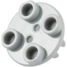 LEGO Medium Stone Gray Plate 2 x 2 Round with Wheel Holder (2655 / 26716)