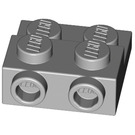 LEGO Medium Stone Gray Plate 2 x 2 x 2/3 with 2 Studs on Side (99206)