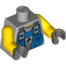 LEGO Medium Stone Gray Power Miner Torso with Blue Overall Bib (76382)