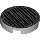 LEGO Medium Stone Gray Round Tile 2 x 2 with Vent Design with Normal Bottom (49039)