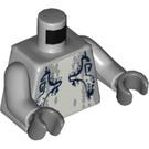 LEGO Medium Stone Gray Shark Warrior Torso with Medium Stone Arms and Dark Stone Hands (76382 / 88585)