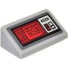 LEGO Medium Stone Gray Slope 1 x 2 (31°) with Control Panel Sticker
