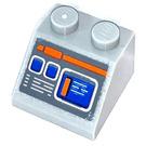 LEGO Medium Stone Gray Slope 2 x 2 (45°) with Instruments Sticker