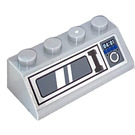 LEGO Medium Stone Gray Slope 2 x 4 (45°) with Microwave Sticker with Rough Surface