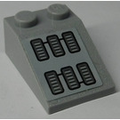 LEGO Medium Stone Gray Slope 25° (33) 2 x 3 with Air Vents Sticker
