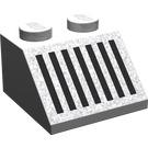 LEGO Gris Pierre Moyen Pente 45° 2 x 2 avec Noir Grille