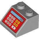 LEGO Medium Stone Gray Slope 45° 2 x 2 with Cash Register Decoration (95669)