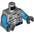 LEGO Medium Stone Gray Solomon Blaze Torso (76382)