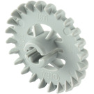 LEGO Medium Stone Gray Technic Gear with 24 Teeth (Crown) with Reinforcements (3650)