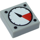 LEGO Medium Stone Gray Tile 1 x 1 with Pressure Gauge with Groove (83484)
