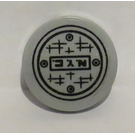 LEGO Medium Stone Gray Tile 2 x 2 Round with 'N.Y.C.' and Manhole Cover Sticker with Bottom Stud Holder