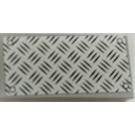 LEGO Medium Stone Gray Tile 2 x 4 with Aluminium Plate Sticker