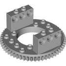 LEGO Medium Stone Gray Top for Turntable with Technic Bricks Attached (2855)