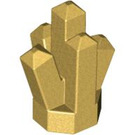 LEGO Metallic Gold Rock 1 x 1 with 5 Points (15584 / 61748)