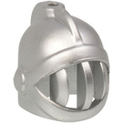 LEGO Metallic Silver Minifig Helmet Castle with Fixed Face Grille (15569 / 59858)