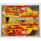 LEGO Metallic Silver Sticker Sheet for Set 8146 (57861)