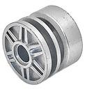 LEGO Metallic Silver Wheel Rim Ø18 x 14 with Pin Hole (34338 / 57754)