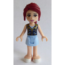 LEGO Mia, Bright Light Blue Skirt, Dark Blue Vest Top Minifigure