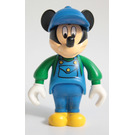 LEGO Mickey Mouse with Blue Overalls, Green Sleeves, Blue Cap Minifigure