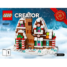 LEGO Microscale Gingerbread House Set 40337 Instructions