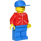 LEGO Milk Float Driver in red Zipper jacket with blue Cap Minifigure