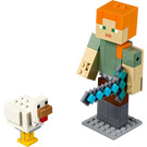 LEGO Minecraft Alex BigFig with Chicken Set 21149