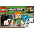 LEGO Minecraft Alex BigFig with Chicken Set 21149 Instructions