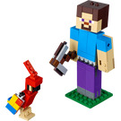 LEGO Minecraft Steve BigFig with Parrot Set 21148
