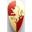 LEGO Minifig Accessory Shield Ovoid with Golden Lion Pattern (Gryffindor) (2586)