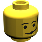 LEGO Minifig Head with Standard Grin, Eyebrows and Microphone (Safety Stud) (3626)