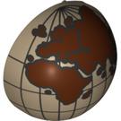 LEGO Minifig Casque Bubble Half avec Eastern Hemisphere Globe Décoration (12214 / 47502)