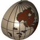 LEGO Minifig Casque Bubble Half avec Western Hemisphere Globe Décoration (12213 / 47494)