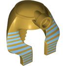 LEGO Minifig Pharoah Headdress Nemes Type 2 with Decoration (39883)