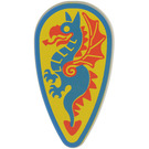 LEGO Minifig Shield Ovoid with Blue Dragon (2586)