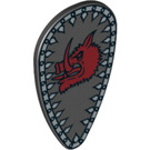 LEGO Minifig Shield Ovoid with Boar Head Decoration (2586 / 10112)