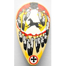 LEGO Minifig Shield Ovoid with Indian Feathers and Black Horse Pattern (2586)